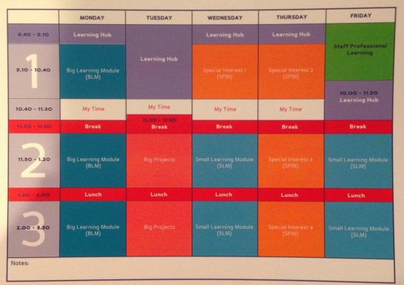 HPSS Timetable