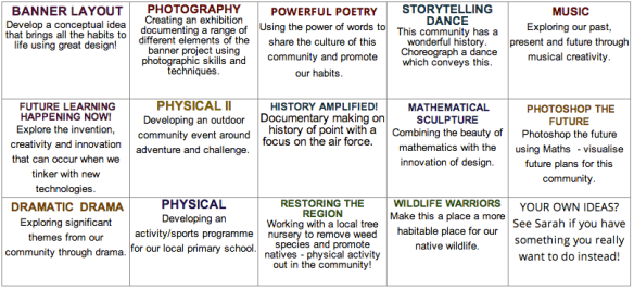 Build Our Culture Project Choices