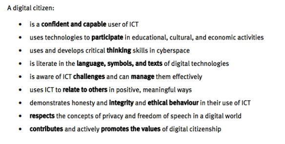 NetSafe definition of Digital Citizenship