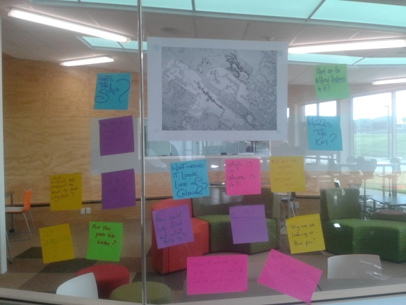 Questions on the image being shared on Post-its