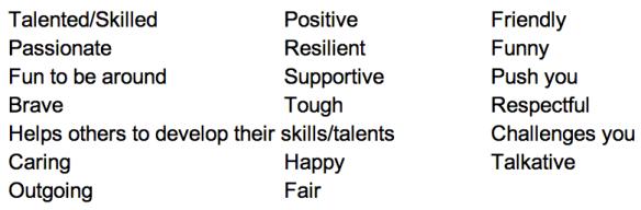 The Reweti Characteristics